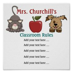 School Teacher's Classroom Rules LG. by SRF Posters We have the best promotion for you and if you are interested in the related item or need more information reviews from the x customer who are own of them before please follow the link to see fully reviewsShopping          	School...