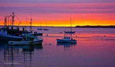 Sunrise, Rockland Harbor, Maine Coast by Richard VanWart