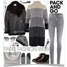 Pack and Go to Paris Fashion Week by ellie366 on Polyvore featuring Acne Studios, J Brand, See by Chloé, Alexander McQueen, Sophie Buhai, Black, Y-3, Fendi, parisfashionweek and Packandgo
