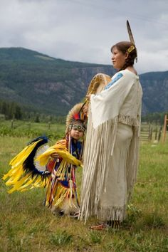 Ute Woman and Child