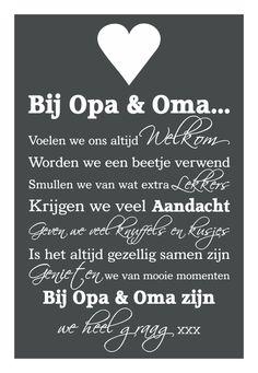 Knuf en Zo :: Tekstborden :: Tekstbord Bij Opa & Oma
