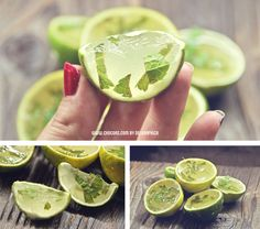 Mojito jelly shot – spanish recipe. I hope this would work with a veggie gelatin replacement.