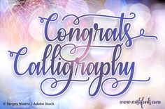 Introduction Congrats Calligraphy Font! Congrats Calligraphy designed and shared by Misti's Fonts. Designed to combine perfectly and allow you to crea...