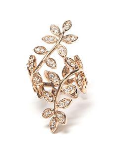 Lisa Freede Vine Ring: Rose Gold.