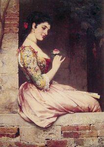 the rose - (Eugene De Blaas)