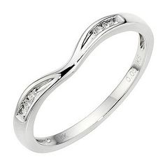 For our 1 year Anniversary instead of a traditional eternity band (because we've done it all backwards!) x   9ct White Gold Diamond Shaped Band - Product number 8912777