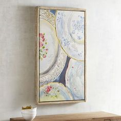 Never miss high tea again with this wall art from Pier Crafted of rustic pine with a cotton canvas, it brings vintage-inspired charm to living rooms, dining rooms and powder rooms. Pinkies up. Colorful Animals, Plate Art, Unique Wall Art, Art Photography, Vintage World Maps, Gallery Wall, Artsy, Fancy, Art Prints