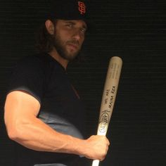 8/18 Madison Bumgarner comes up as a pinch hitter, singles and scores a run. As the Giants beat the Cardinals 2-0.