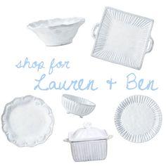 Lauren Roman & Ben Goble - Shop their entire registry @ http://charlestonstreet.com/registry.asp?action=view&id=2017