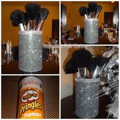 DIY make up brush holder