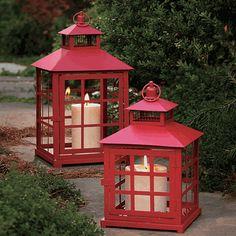 Red Metal Lanterns