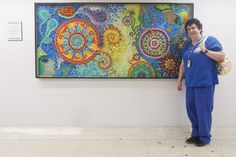 A new mural at Toronto General Hospital is made up of thousands of pieces of plastic collected by nurse Tilda Shalof over the years.