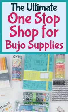 The ultimate one stop shop for bullet journal supplies! Learn where you can get all your favorite stationery supplies at once place- Amazon! It has everything you need to get you started for your bullet journal. Bullet journal inspiration for amazing stationery tools you need to use today. #bulletjournal #stationery #bujo