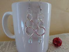 Orecchini pendenti orecchini argentati e perle di di Myspecialgift