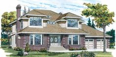 Contemporary-Modern House Plan with 3089 Square Feet and 4 Bedrooms from Dream Home Source | House Plan Code DHSW35511