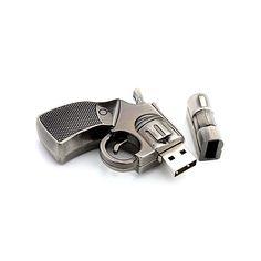Forma de pistola 16GB USB 2.0 Flash Memoria Pen Drive U Disco para PC ordenador portátil