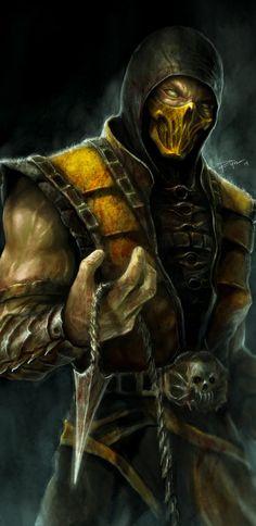 Scorpion Mortal Kombat X Artwork In Resolution Sub Zero Mortal Kombat, Escorpion Mortal Kombat, Mortal Kombat Tattoo, Mortal Kombat X Scorpion, Reptile Mortal Kombat, Mortal Kombat X Wallpapers, Noob Saibot, Les Reptiles, Mileena