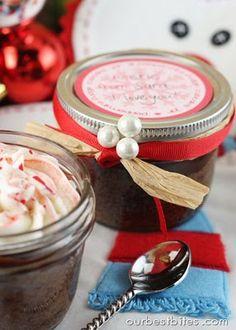 Peppermint Fudge Cupcake Jar (striped frosting tutorial)