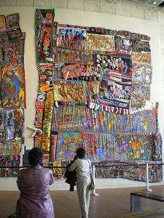 "Journey 2 | by Jen Waller. One of the first things you see when you enter the Freedom Center is Aminah Robinson's amazing ""quilts"" -- what she calls ""RagGonNons"" because they ""rag on and on."" They both tell a story of her family's journeys beginning - Flickr - Photo Sharing!"