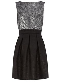 two tone pleated dress | dorothy perkins