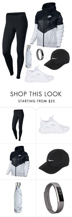 A fashion look from May 2017 featuring NIKE, nike pants and nike trainers. Browse and shop related looks. Cute Workout Outfits, Workout Attire, Sporty Outfits, Cool Outfits, Dope Fashion, Teen Fashion, Womens Fashion, Abercrombie And Fitch Outfit, Sport Street Style