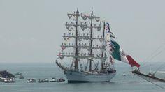 Mexican tall ship Cuauhtemoc preparing to leave Veracruz harbor (2010).