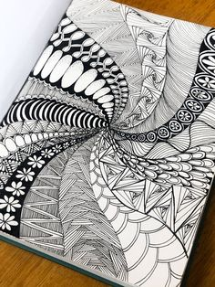 What Is Zentangle Drawing Meditation? Doodle Art Drawing, Zentangle Drawings, Cool Art Drawings, Mandala Drawing, Pencil Art Drawings, Art Drawings Sketches, Zentangles, Doodling Art, Doodle Doodle