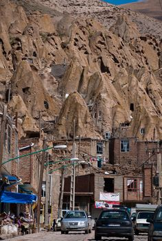 "♥ ""Kandovan is a tourist village in the province of East Azarbaijan, IRAN. Its fame is due to its troglodyte dwellings. Some of the houses are at least 700 years old and are still inhabited."