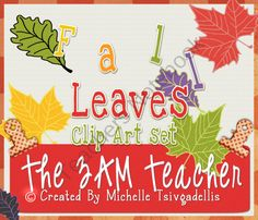 FREE Fall Leaves Clip Art Collection product from The-3AM-Teacher-Designs on TeachersNotebook.com