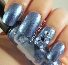 Cool ice blue nails!