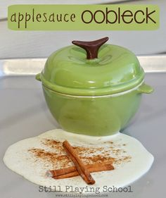 Still Playing School: Applesauce Dough for Sensory Play