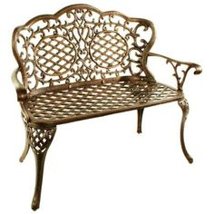 Oakland Living Mississippi Love Seat Patio Bench-2006-AB - The Home Depot