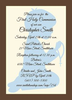 Praying Boy Communion Invitations First Holy by ARoyalImpression