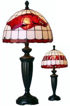 Razorback Tiffany-style lamp