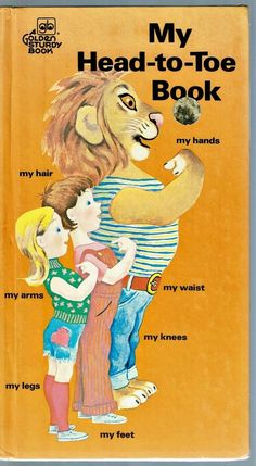 Vintage Children's Golden Sturdy Book ~ MY HEAD-TO-TOE BOOK ~ Jean Tymms 1974
