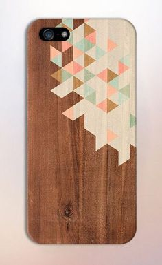 Geometric Pastel Colored Wood Blocks Design Case for iPhone 6 6 Plus iPhone 5 5s 5c 4 4s Samsung Galaxy s6 s5 s4 & s3 and Note 5 4 3 2