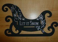 Jennifer's Crafting Rainbows : Let It Snow MDF Santa Sleigh, a' Sneaky Peek.' Mdf Christmas Decorations, Let It Snow, Let It Be, Santa Sleigh, Rainbows, Crafting, Crafts To Make, Crafts, Handarbeit