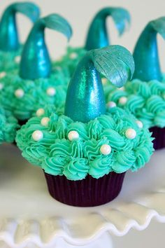 Little Mermaid cupcakes!