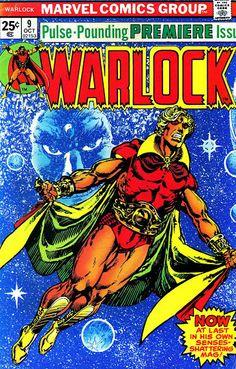 Warlock #9 (Oct '75) cover by Jim Starlin. #comics