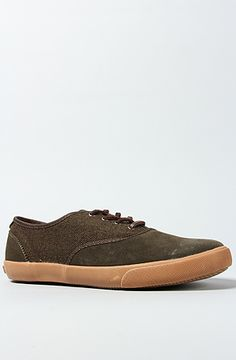 d0f15a84f3e1 The Generic Surplus x Obey Borstal Sneaker in Military Olive Wool   Suede