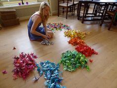 Behind the scenes: origami crane project (and get a crane yourself!) | Magical Daydream