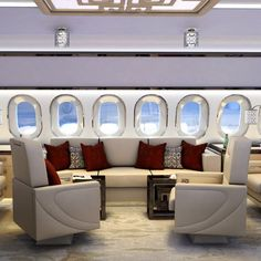 travel like this. yes. please.  Aeria Airplane Interiors