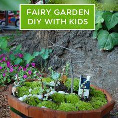 So easy and magical! DIY Fairy Garden for Kids.
