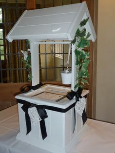 Wishing well for wedding messages