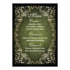 """Shop rustic """"navy blue"""" gold regal wedding menu created by blessedwedding. Purple And Gold Wedding, Green And Gold, Blue Gold, Navy Blue, Rustic Wedding Menu, Wedding Menu Cards, Wedding Ideas, Wedding Stuff, Wedding Details"""