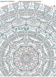 Crochet Mandala Pattern, Crochet Chart, Crochet Potholders, Crochet Doilies, Doily Rug, Circles, Outdoor Blanket, Diagram, Strands