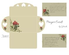 Prayer Cards and envelope Free-download
