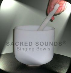 """9"""" Frosted Crystal Singing Bowl - Heart Chakra - Note 'F' by SACRED SOUNDS Crystal Singing Bowls,  The bowls' tones are beautiful, pure, and calming.  I had a chance to play several of them at a store in Sonoma, but I didn't buy.  I regret that now.  http://www.amazon.com/dp/B006AX5VGE/ref=cm_sw_r_pi_dp_HwJ9qb11AFE8Q"""