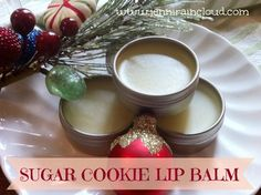 Sugar Cookie Lip Balm ~ 1/4 cup Grapeseed Oil, 4 Sugar Cookie Tea Bags, 1/8 tsp Vanilla Extract, 1/2 tsp Sugar, 1 TBL Beeswax. Makes 2 ounces. (No EO's used)