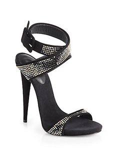 Giuseppe Zanotti Crystal-Coated Suede Sandals
